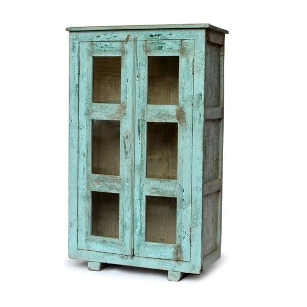 Szafa z witrynką Goa 84x135 cm, niebieska patyna