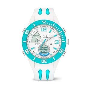 Zegarek Colori Anadigi 48 White Neon Turquoise