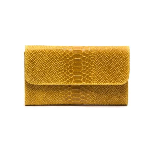 Skórzana torebka Isabella Rhea 8018 Giallo