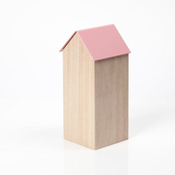 Różowe pudełko House Large