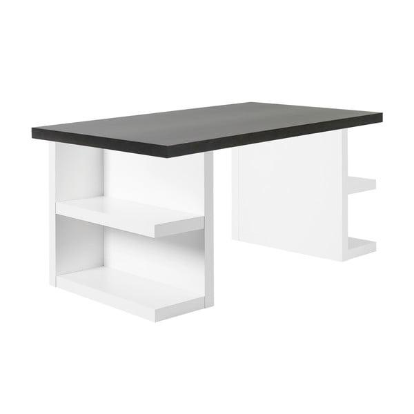 Ciemnobrązowe biurko TemaHome Multi, dł. 160 cm