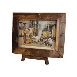 Ramka na zdjęcia z drewna tekowego HSM Collection Antique, 43 x 36 cm