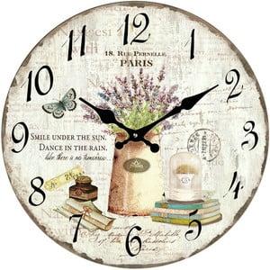 Szklany zegar Paryż, 34 cm