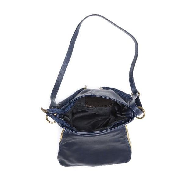 Skórzana torebka Carla Ferreri 2113 Blu Scur