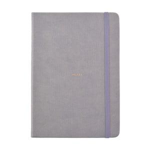 Szary notatnik w formacie A5 Busy B, 96 stron
