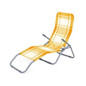 Leżak plażowy Summer, pomarańczowa kratka