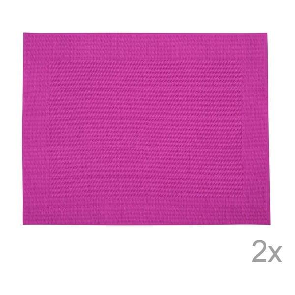 Zestaw 2 mat stołowych Saleen Pink, 30x40 cm