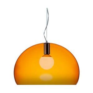 Pomarańczowa lampa wisząca Kartell Fly