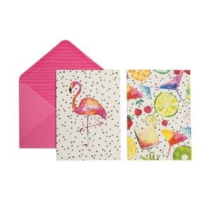 Zestaw 12 kartek na życzenia z kopertami Portico Designs Totally Tropical