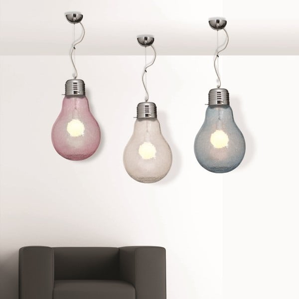 Lampa sufitowa Laba Crakele, przezroczysta