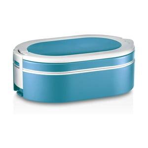 Niebieski owalny pojemnik termoaktywny na oběd Enjoy, 1,4 l