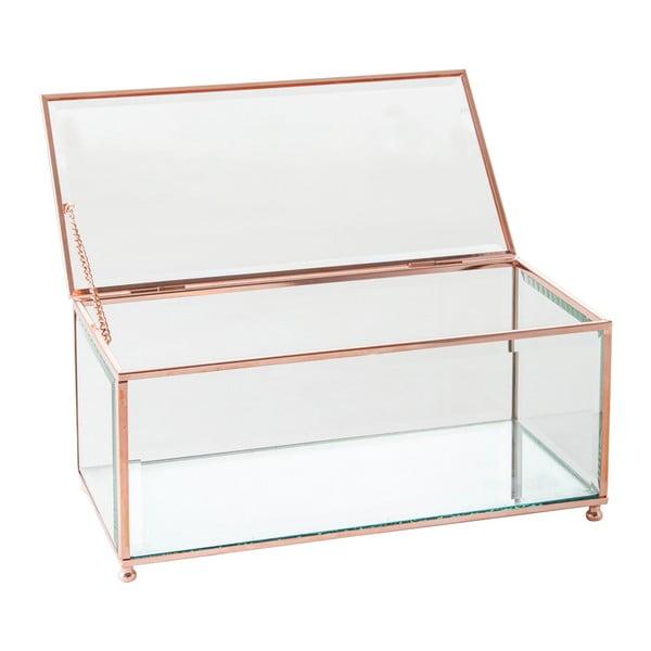 Szkatułka J-Line Jewel Glass, 25x12 cm