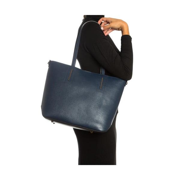 Niebieska skórzana torebka Sofia Cardoni Massima