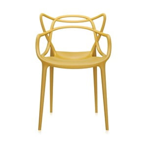Musztardowe krzesło Kartell Masters