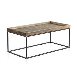 Stolik z metalową konstrukcją i drewnianym blatem Geese, 120x60 cm