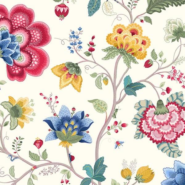 Tapeta Pip Studio Floral Fantasy, 0,52x10 m, biała