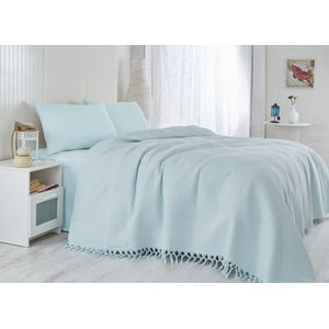 Jasnoniebieska   lekka narzuta na łóżko Light, 220x240cm