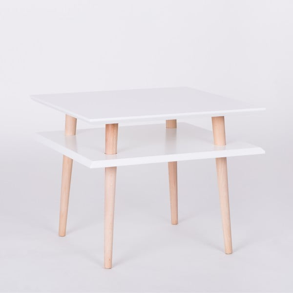 Biały stolik Ragaba Square, 55x55 cm