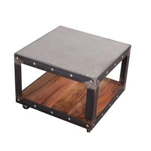 Stolik z blatem z drewna dębowego z recyklingu i betonu FLAME furniture Inc. Little Jumbo