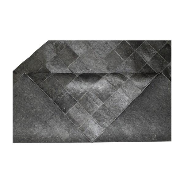 Dywan skórzany Modena Black, 170x240 cm