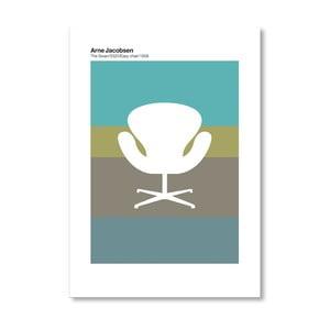 """Plakat autorski """"Jacobsen Swan Green"""""""