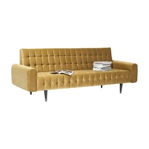 Musztardowa sofa trzysobowa Kare Design Milchbar