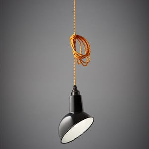 Lampa wisząca Miniature Angled Cloche Black/Orange