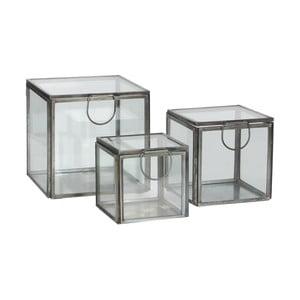 Komplet 3 szklanych pojemników Grazia