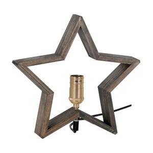 Brązowo-szara drewniana gwiazda świecąca Best Season Lysekil, 30x29 cm