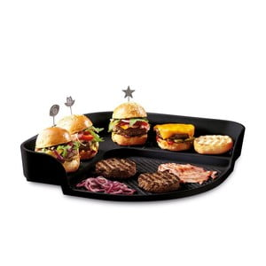 Czarna taca na hamburgery Emile Henr