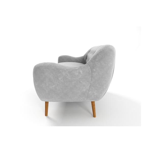 Szara   sofa trzyosobowa Wintech Zefir