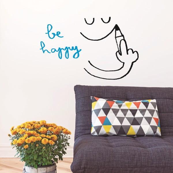 Naklejka Be Happy, 28x31 cm