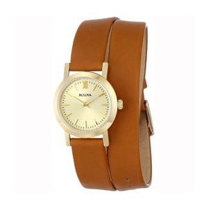 Zegarek damski Bulova 97135 Yellow Gold/Brown