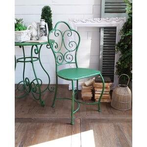 Krzesło metalowe Shabby Green