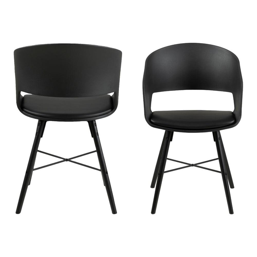 Czarne krzesło Interstil Luna