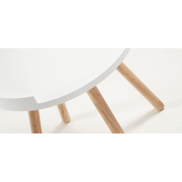 Biały stolik La Forma Bruk, 46 cm