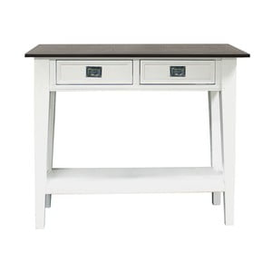 Biały stolik Canett Skagen Console, 2 szuflady