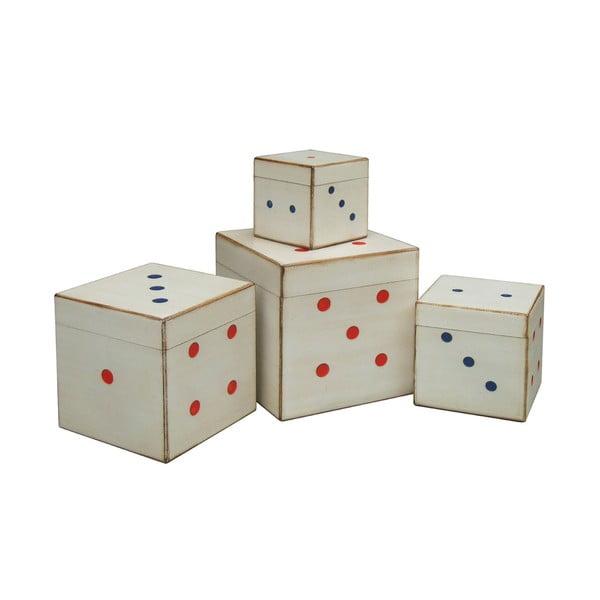 Zestaw 4 pudełek Dice