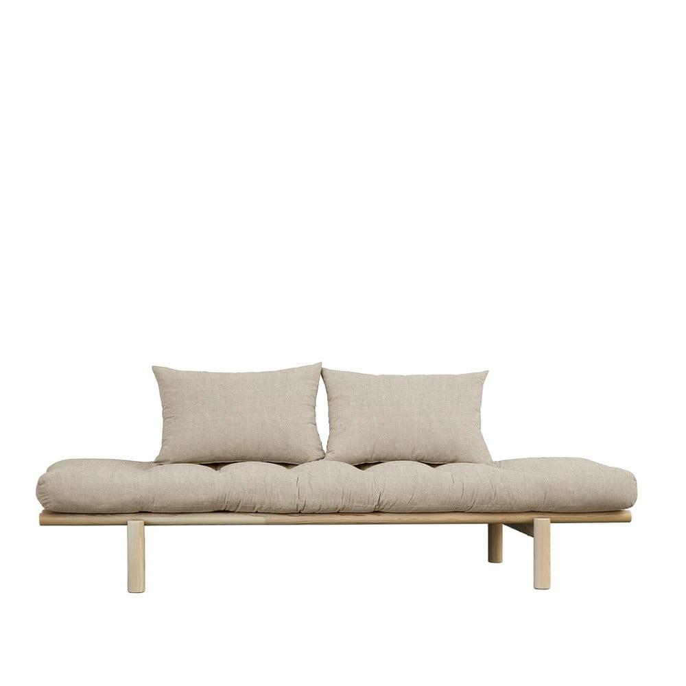 Sofa z lnianym pokryciem Karup Design Pace Natural/Linen