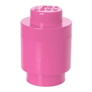 Okrągły pojemnik LEGO, różowy