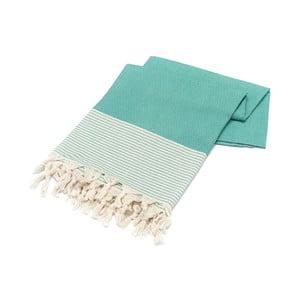 Niebieski ręcznik Hammam Bal Petergi, 100x180cm