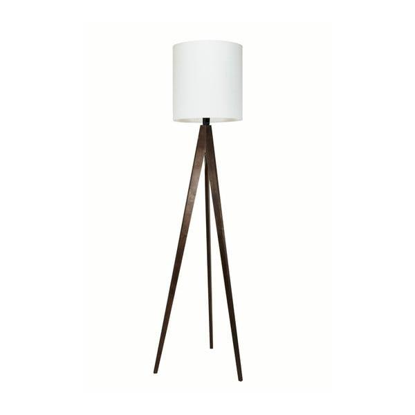 Biała lampa stojąca 4room Artist, czarna lakierowana brzoza, 158 cm