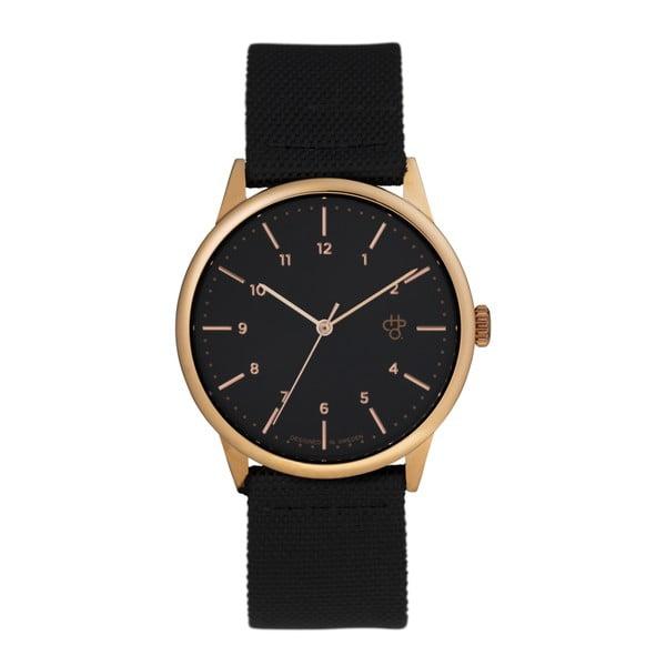 Zegarek z czarnym paskiem i z czarnym cyferblatem CHPO Rawiya