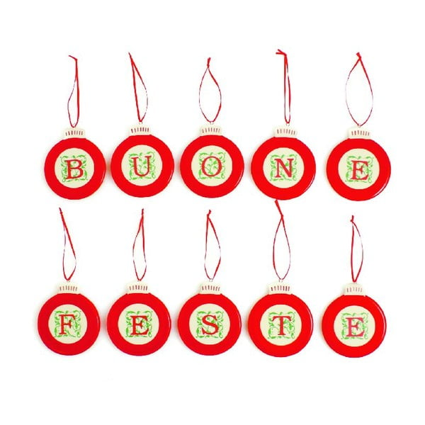 Zestaw ozdób świątecznych Buone Feste