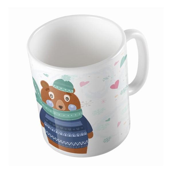 Ceramiczny kubek Bear in Jumper, 330 ml