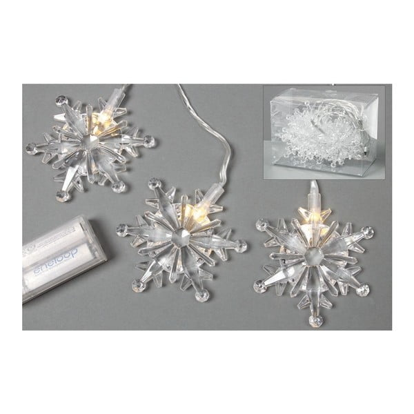 Łańcuch lampek LED Snowflakes, 90 cm