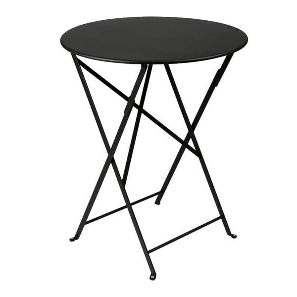 Czarny składany stół metalowy Fermob Bistro