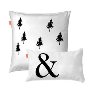 Komplet 2 poszewek na poduszki Blanc Ampersand