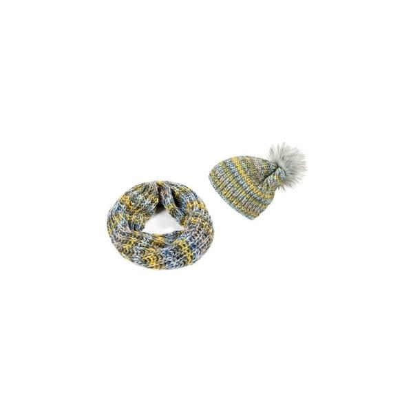 Czapka i szalik Yellow Ombre