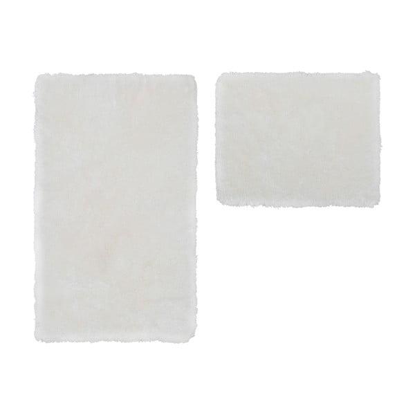 Zestaw 2 dywaników łazienkowych Spotlight White